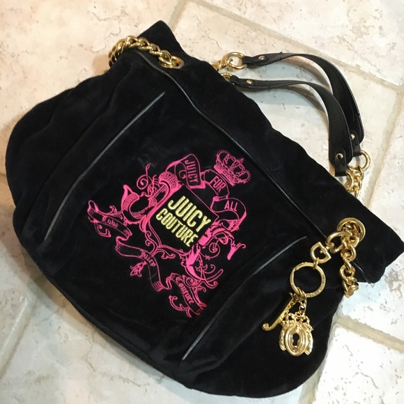 Juicy Couture black and pink purse
